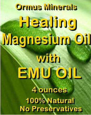 Ormus Minerals -Magnesium Oil with EMU Oil